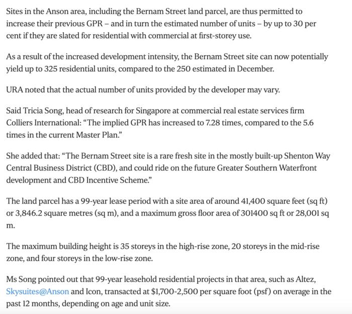 URA-launches-tender-of-Bernam-Street-site-in-CBD-with-30-more-reisdential-units-4