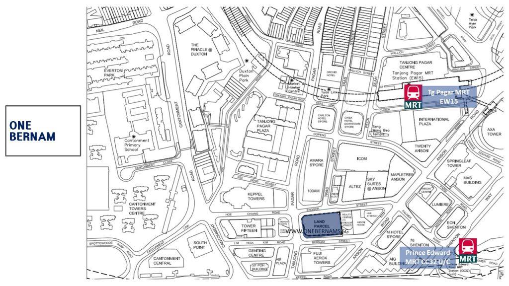 One-Bernam-location-map-singapore