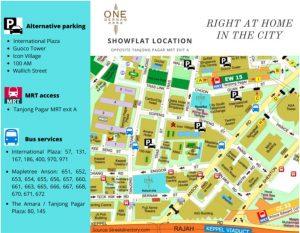 One-Bernam-Showflat-Location