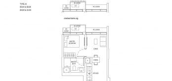 One-Bernam-Floorplan-Type-A1-452Sqft