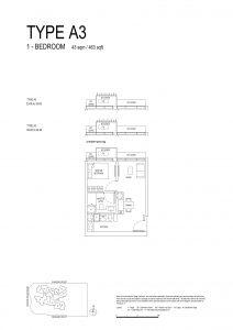 One-Bernam-Floorplan-Type-A3-463Sqft