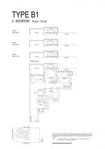 One-Bernam-Floorplan-Type-B1-732Sqft