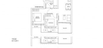 One-Bernam-Floorplan-Type-BS1-829Sqft