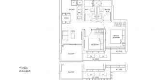One-Bernam-Floorplan-Type-BS3-807Sqft