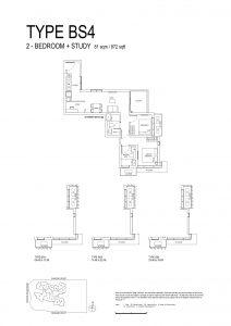 One-Bernam-Floorplan-Type-BS4-872Sqft