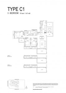 One-Bernam-Floorplan-Type-C1-1421Sqft
