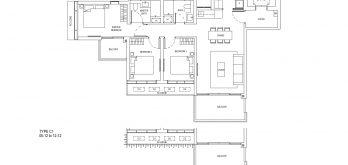 One-Bernam-Floorplan-Type-C1-1421Sqft