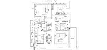 One-Bernam-Floorplan-Type-E3-1744Sqft